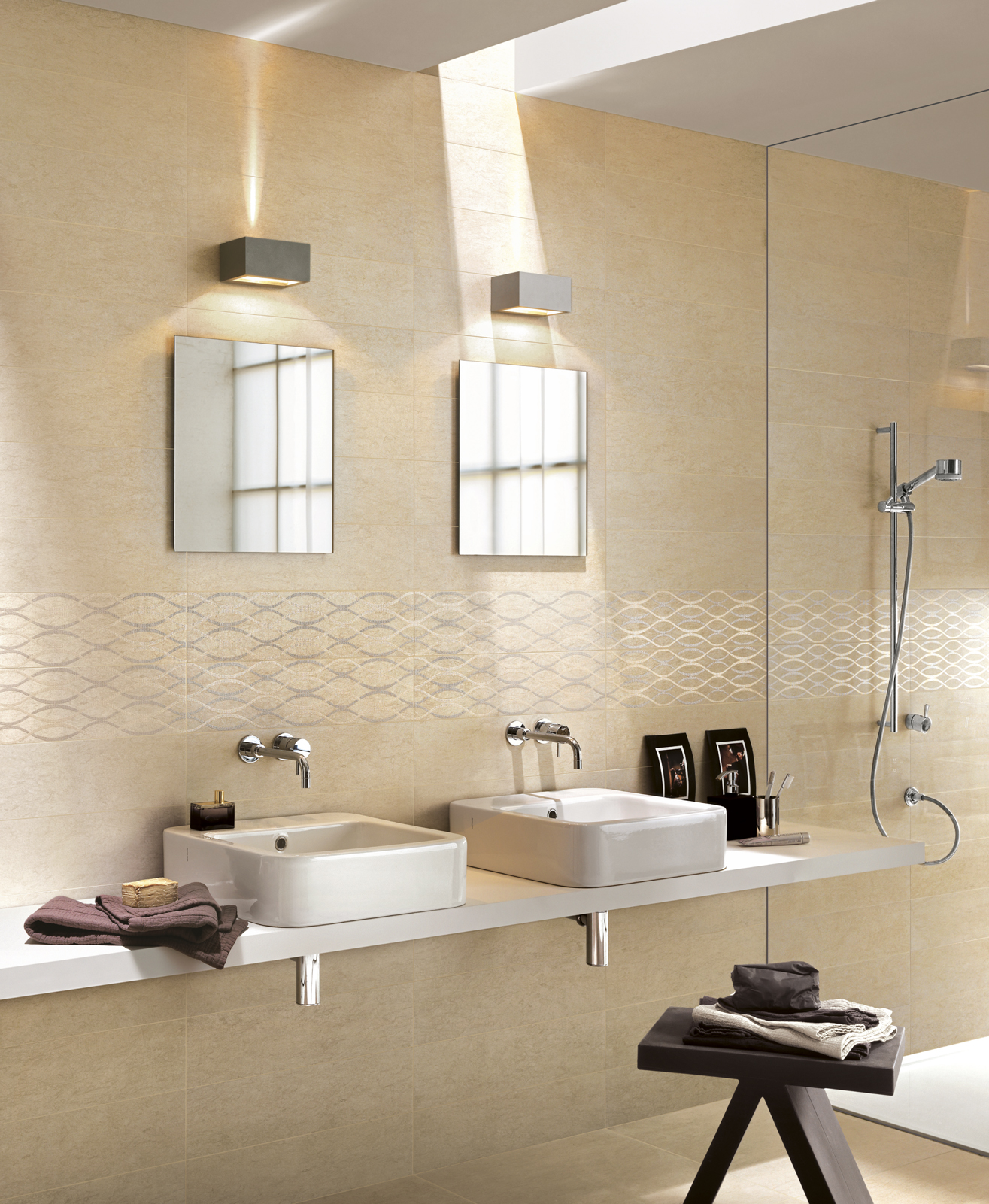 Collezione touch gres porcellanato effetto pietra - Ragno ceramiche bagno ...