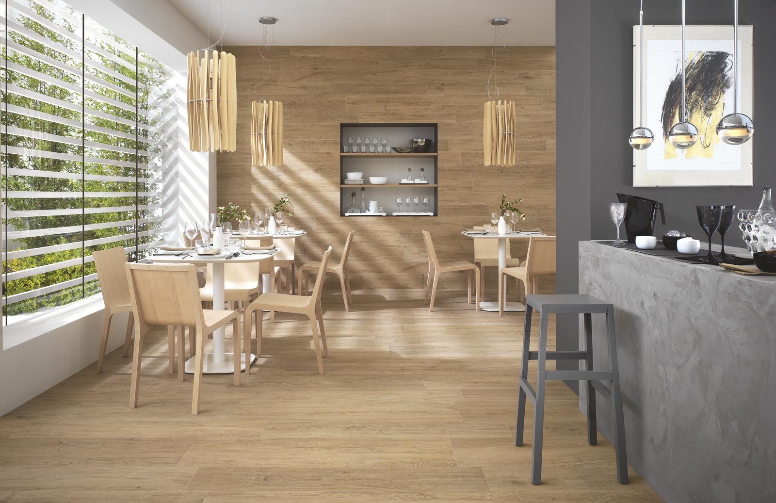 Woodliving wood look floor and wall tiles ragno for Carrelage in english