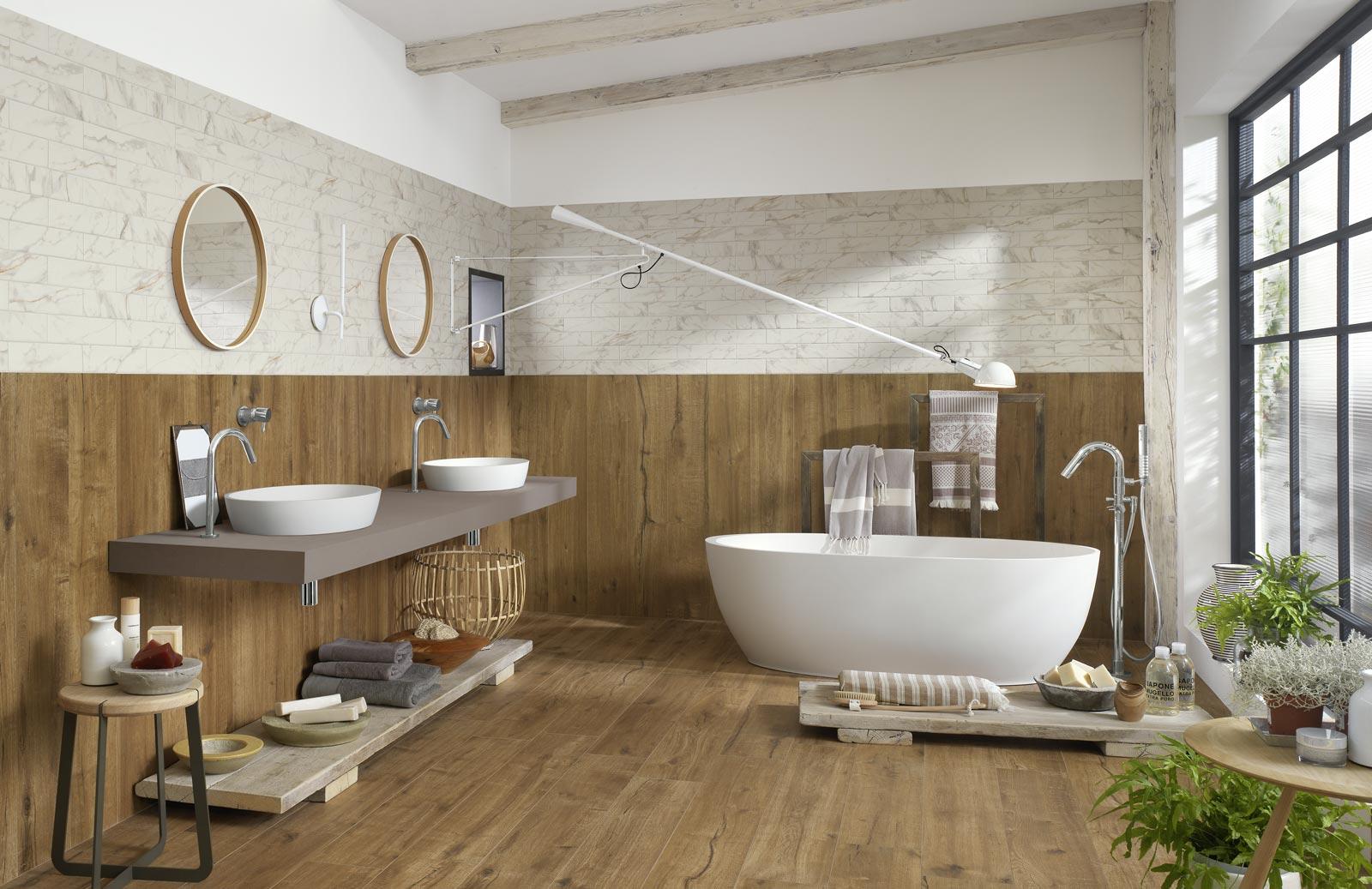 Collezione woodtale pavimenti in gres effetto legno ragno - Piastrelle bagno legno ...